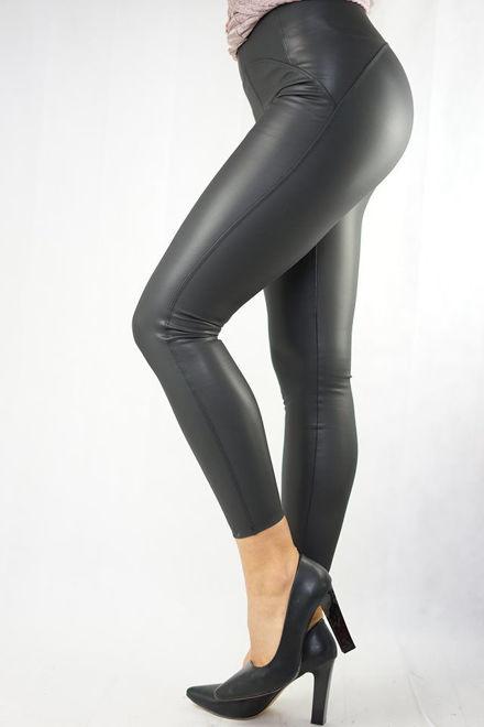 alacsony ár nagyon kényelmes nézd meg SXL Divat webáruház. Fekete Hátul Íves Bőrhatású Leggings / Nadrág